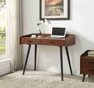 Picture of Jual PC609 - Vienna 2 Drawer Desk - Walnut