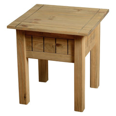 Panama - 1 Drawer Lamp Table - Pine
