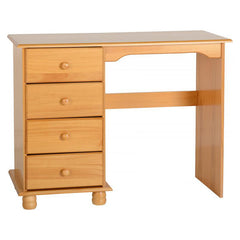 Sol - 4 Drawer Dressing Table - Pine