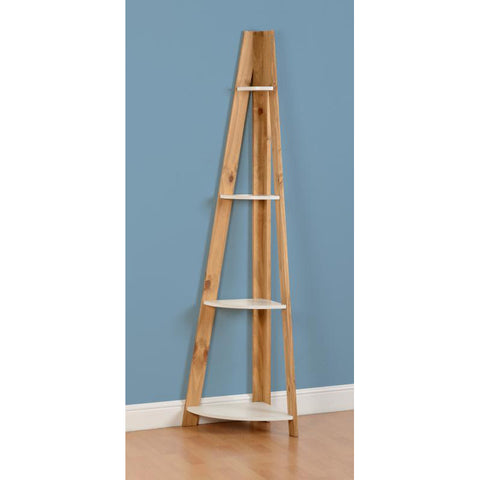 Picture of Santos - 4 Shelf Corner - White