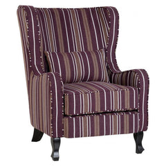 Sherborne - Fireside Chair - Burgundy Stripe