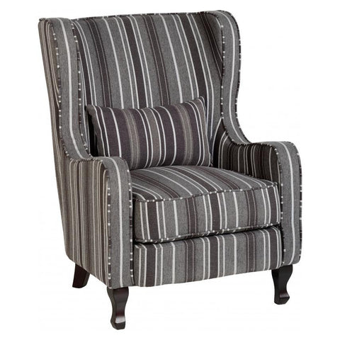 Picture of Sherborne - Fireside Chair - Grey Stripe