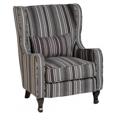 Sherborne - Fireside Chair - Grey Stripe