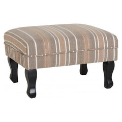 Sherborne - Foot Stool - Beige Stripe