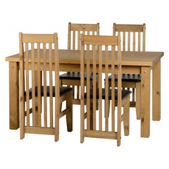 Tortilla - 4ft9 Dining Set - Pine