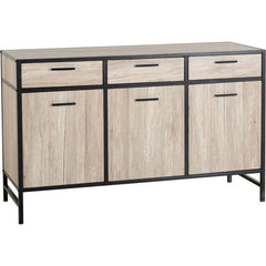 Warwick - Industrial Sideboard - Light Oak