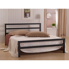 City Block - Metal Bed - Black