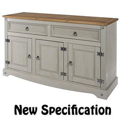 Corona grey wash 3 Door Sideboard