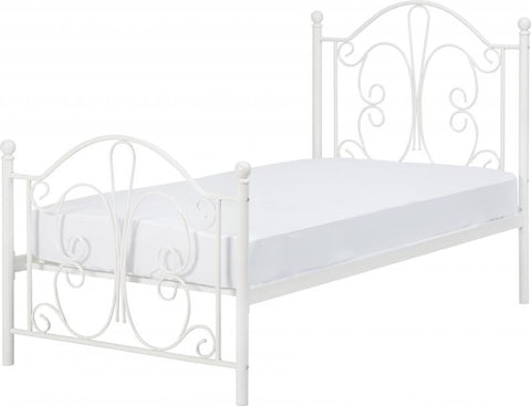 Picture of Annabel Single Metal Bed in Silver or White
