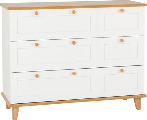 Picture of Arcadia *3 Drawer Chest in White/Ash Effect Veneer