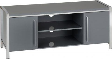 Picture of Charisma - 2 Door TV Unit in Grey Gloss/Chrome