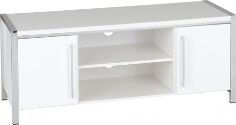 Picture of Charisma - 2 Door TV Unit in White Gloss/Chrome