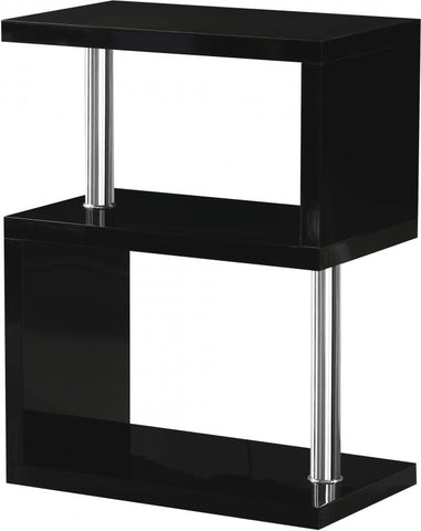 Picture of Charisma - 3 Shelf Unit - Black Gloss/Chrome