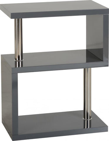 Picture of Charisma - 3 Shelf Unit - Grey Gloss/Chrome