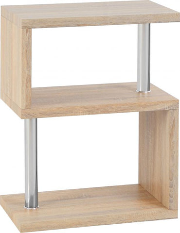 Picture of Charisma - 3 Shelf Unit - Sonoma Oak Effect/Chrome