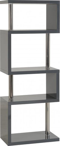 Picture of Charisma - 5 Shelf Unit - Grey Gloss/Chrome