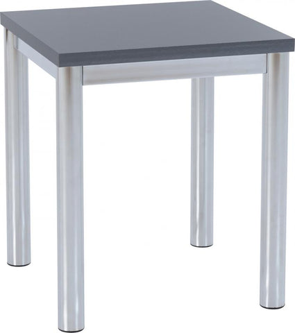 Picture of Charisma -Lamp Table in Grey Gloss/Chrome