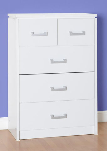 Picture of Charles 3+2 Drawer Chest in White