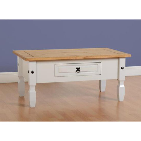 Picture of Corona - 1 Drawer Coffee Table - White/Pine or Grey/Pine