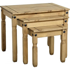 Corona Nest of Tables - Pine