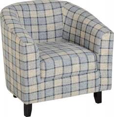 Hammond Tub Chair in  Check Fabric