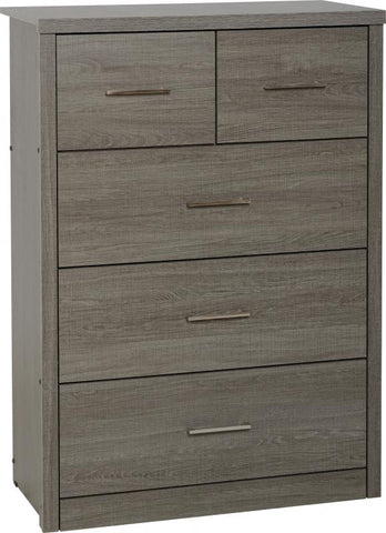 Picture of Lisbon 3+2 Drawer Chest in Black Wood Grain