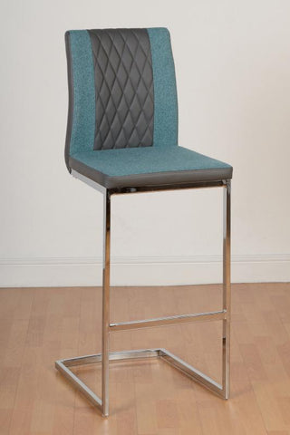 Picture of Sienna Bar Chair in Grey Faux Leather/ Fabric/ Chrome