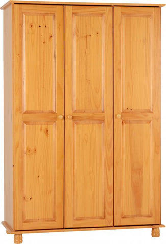 Picture of Sol 3 Door Wardrobe in Antique Pine
