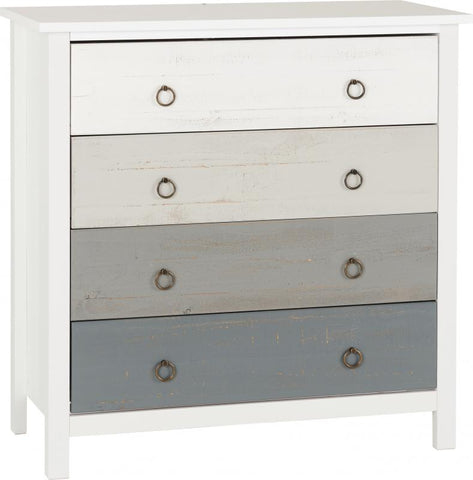 Picture of Vermont 4 Drawer Chest in White/Grey