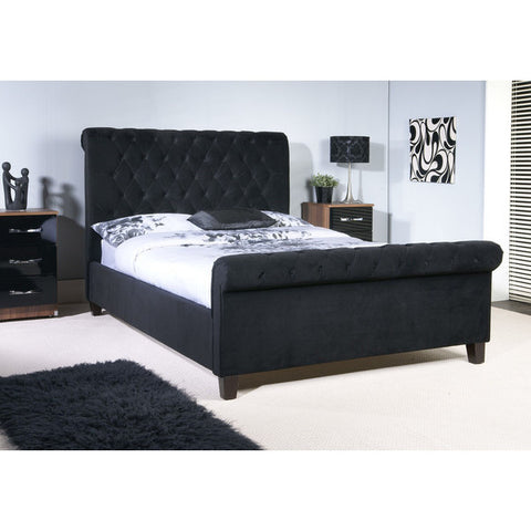 Picture of Orbit - Sleigh Bed - Mink, Grey and Black