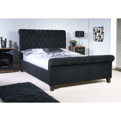 Orbit - Sleigh Bed - Mink, Grey and Black