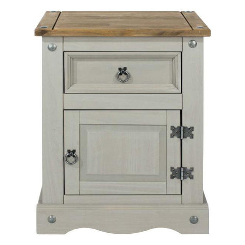 Picture of Corona Grey - Bedside - Grey/Pine