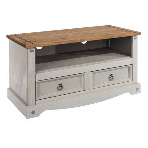 Picture of Corona Grey - Flat screen TV Unit - Grey/Pine