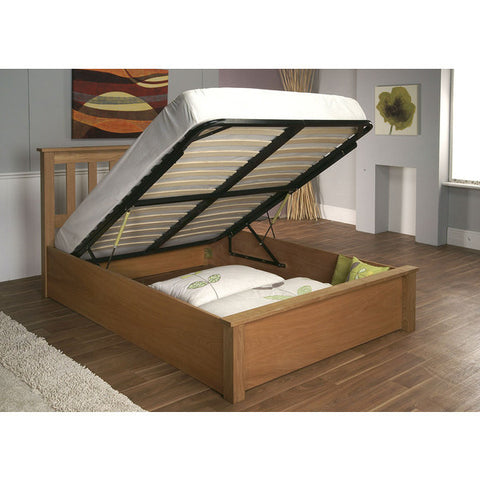 Picture of Chandler - Ottoman Storage Bed - Oak