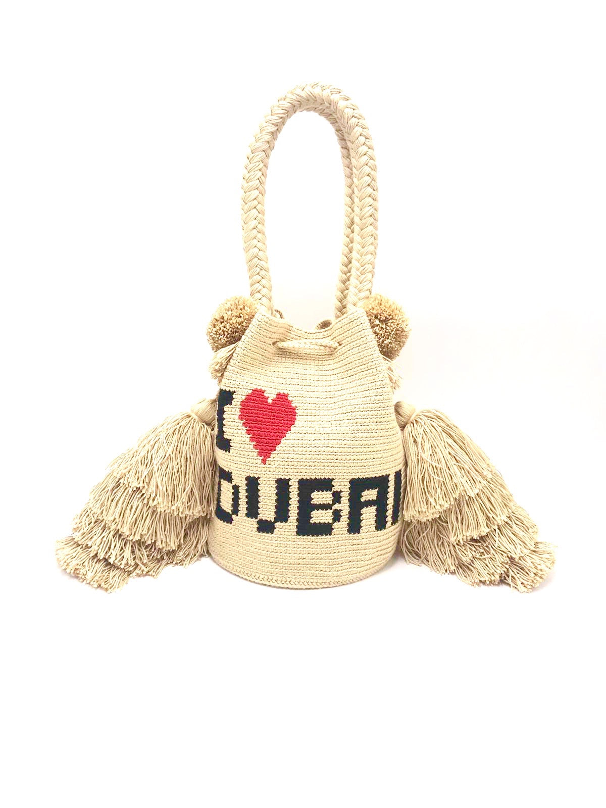 I❤️DUBAI bag, triple tassel