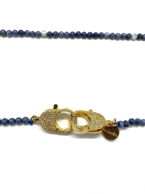 Clip to impact Blue coral Christine Necklace.