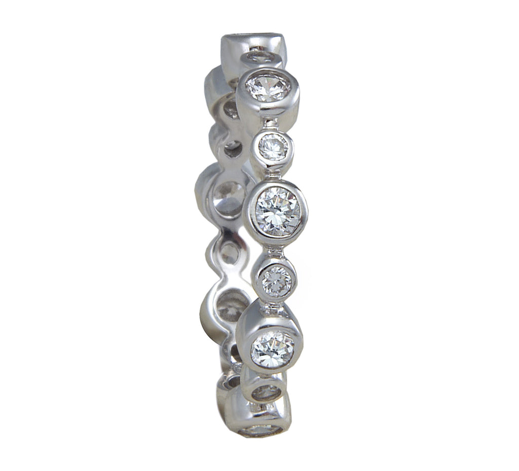 Eternity Ring 'Bezel' - Silver