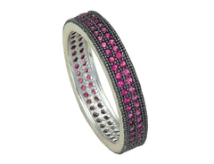 Eternity Band Double Rows - Red