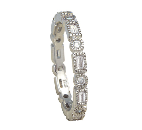 Eternity Band Round/Square - Silver