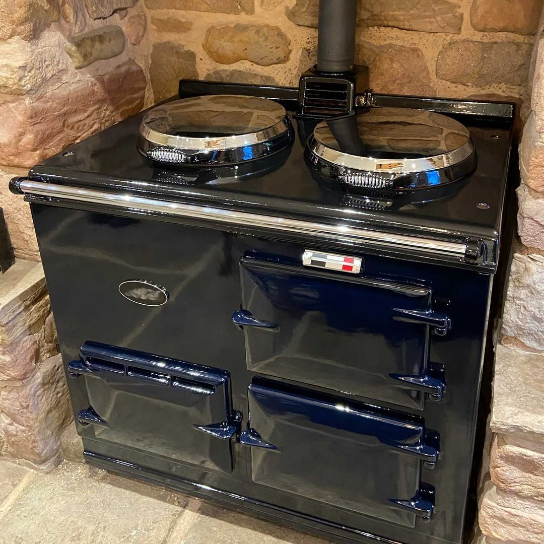 Oxford Blue re-enamelled Aga range cooker