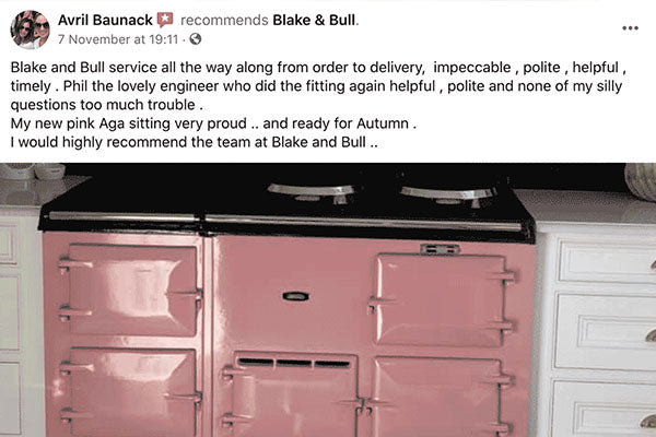 Pink Aga Range Cooker Re-Enamelling in Northamptonshire