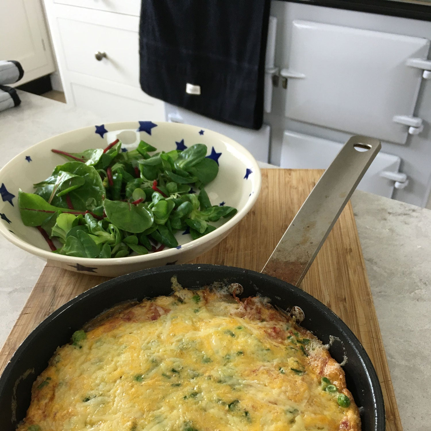 Ham, Pea and Potato Frittata