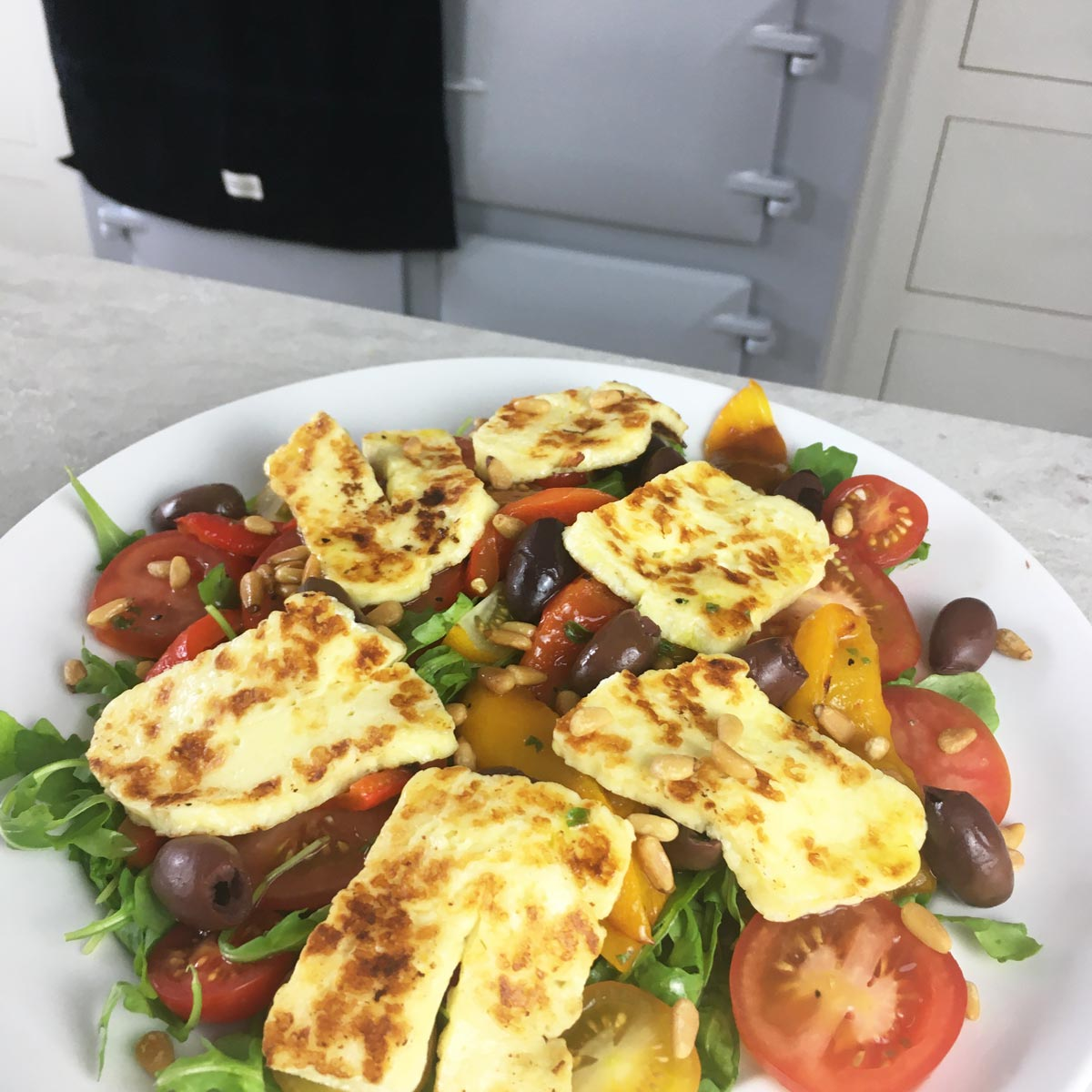 Halloumi and Roasted Red Pepper Salad