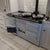 A light grey 'eCook' reconditioned Aga range cooker installation