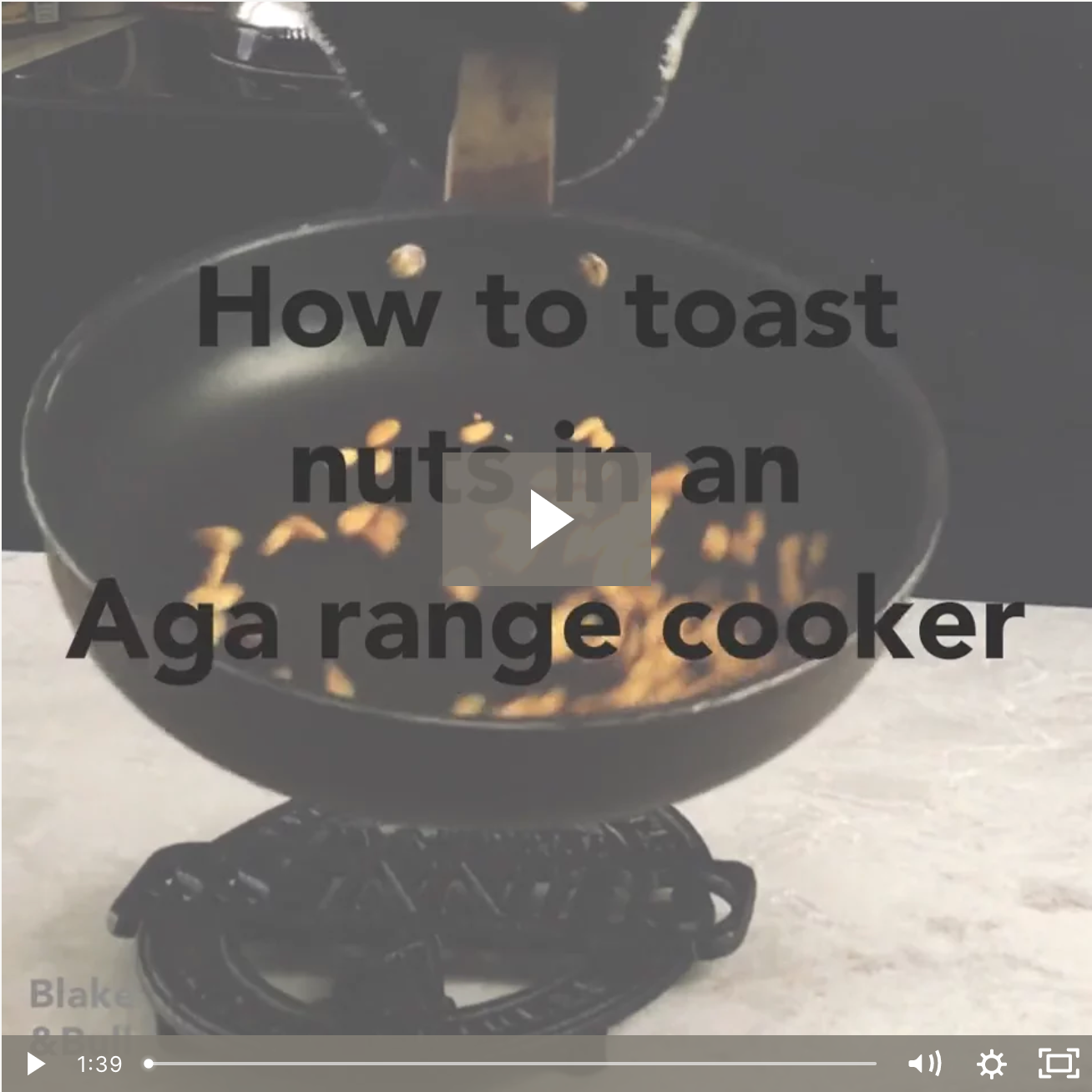 How to toast pine nuts with an Aga range cooker