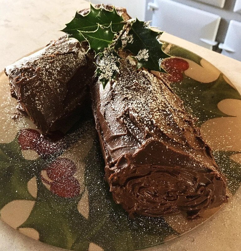Yule Log In An Aga Range Cooker