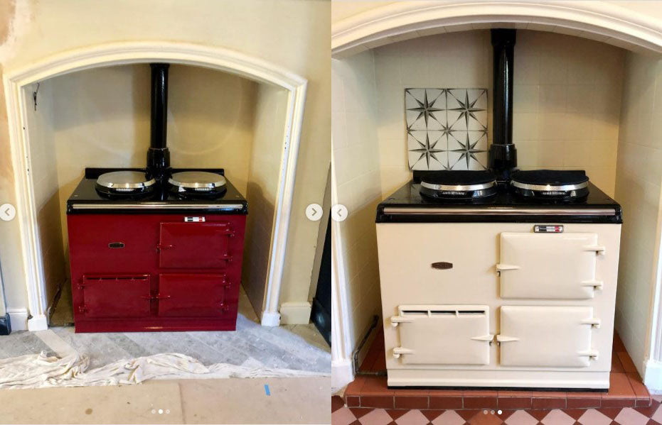 Aga Range Cooker Re-Enamelled in Leicester