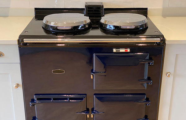 Aga Range Cooker Conversion and Re-Enamel to Oxford Blue in Wiltshire