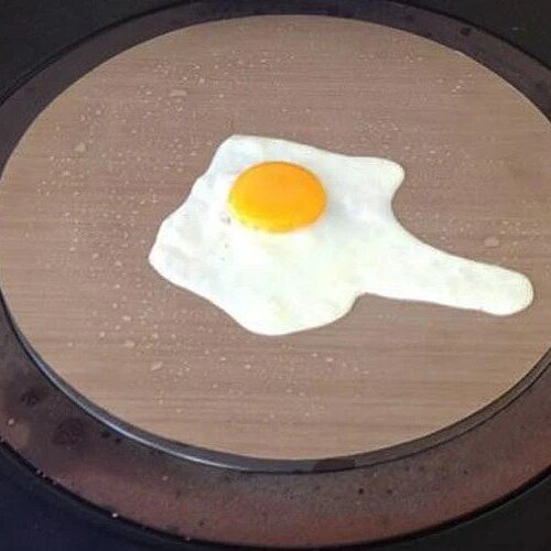 Healthy non-stick fried eggs on your Aga range cooker
