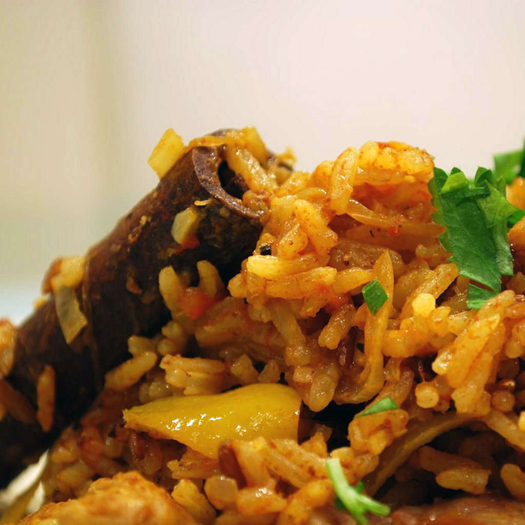Spiced Chicken Pilaf - a mid week quick supper
